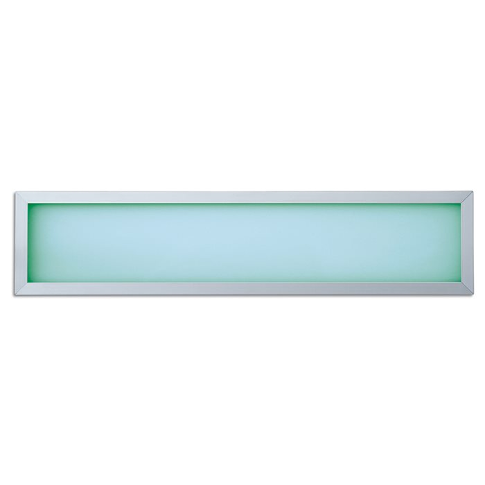 Lampenlux Ultraslim LED RGB Panelo Einbaupanel Haiko Panel Einbauleuchte Silber 18W 60x15cm Aluminium