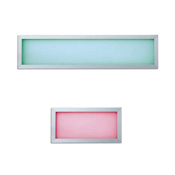 LED RGB Panelo Einbaupanel Haiko silber 9/18W