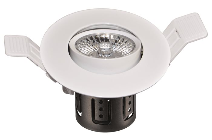 Lampenlux LED-Einbaustrahler Spot Salma Cameta™ weiß Dimm- und Schwenkbar externer TrafoEinbauleuchte Einbaulampe Einbauspot Spot Strahler Punktstrahler Aluminium Downlight Down Deckeneinbaustrahler Deckeneinbauleuchte