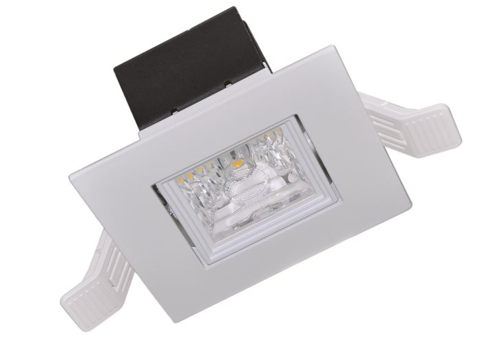 Lampenlux LED-Einbaustrahler Spot Sancho Cameta™ eckig dimmbar externer Trafo 230V