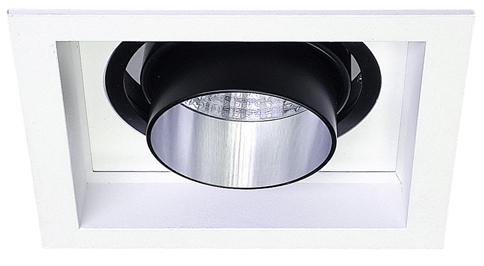 Lampenlux LED-Einbaustrahler Spot Sailor eckig Nickel satiniert 15x15 cm rostfrei 230V Einbauleuchte Einbaulampe Einbauspot Spot Strahler Punktstrahler Aluminium Downlight Down Deckeneinbaustrahler Deckeneinbauleuchte