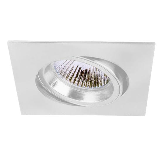 Lampenlux LED-Einbaustrahler Spot Snap eckig weiß schwenkbar 8.2x8.2cm 230V GU10 rostfreiEinbauleuchte Einbaulampe Einbauspot Spot Strahler Punktstrahler Aluminium Downlight Down Deckeneinbaustrahler Deckeneinbauleuchte