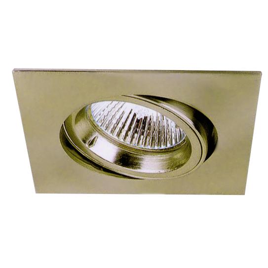 Lampenlux LED-Einbaustrahler Spot Snap eckig gold schwenkbar 8.2x8.2cm 230V GU10 rostfreiEinbauleuchte Einbaulampe Einbauspot Spot Strahler Punktstrahler Aluminium Downlight Down Deckeneinbaustrahler Deckeneinbauleuchte