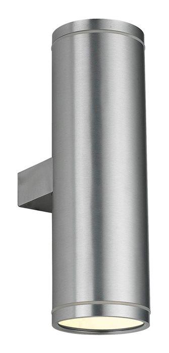 Led Außen Up/Down Light Wand Lampe Leuchte Karim Silber 25cm Aufbau Strahler 2x 5W GU10