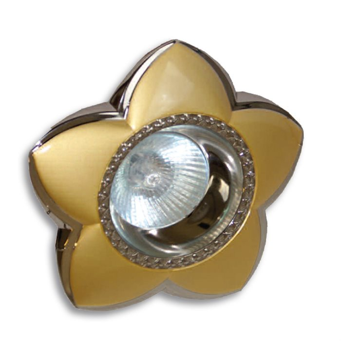 Lampenlux LED-Einbaustrahler Spot Sola sternförmig gold chrom Ø11.5cm rostfrei Aluminium