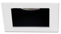 Lampenlux LED-Einbaustrahler Spot Sorah eckig weiß chrom 9x9cm 12V 230V rostfrei Aluminium