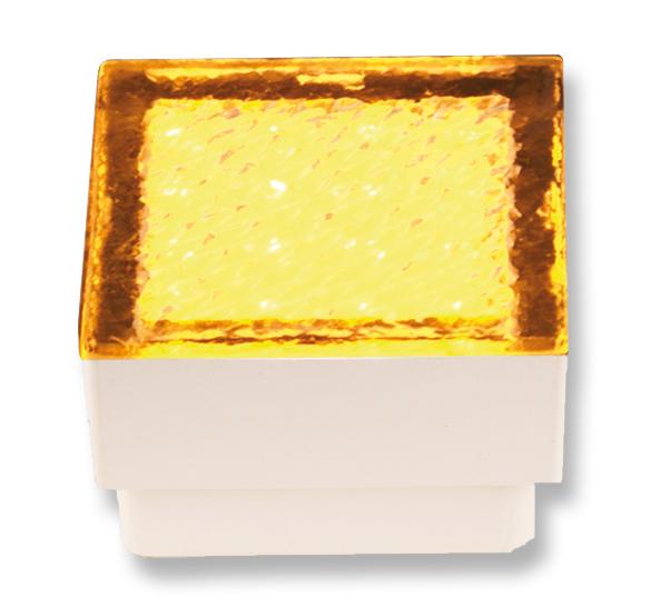 Lampenlux High Power LED Bodeneinbaustrahler Salu Pflasterstein 230V Außenleuchte Begehbar Eckig Amber Gelb 1,5W für Garageneinfahrten