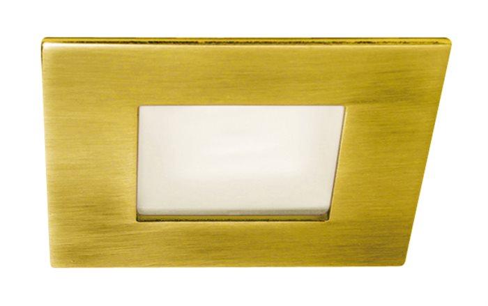 Lampenlux Einbaustrahler Spot Shaky eckig gold Milchglas 7.3x7.3cm 12V G4 rostfrei Einbauleuchte Einbaulampe Einbauspot Spot Strahler Punktstrahler Aluminium Downlight Down Deckeneinbaustrahler Deckeneinbauleuchte