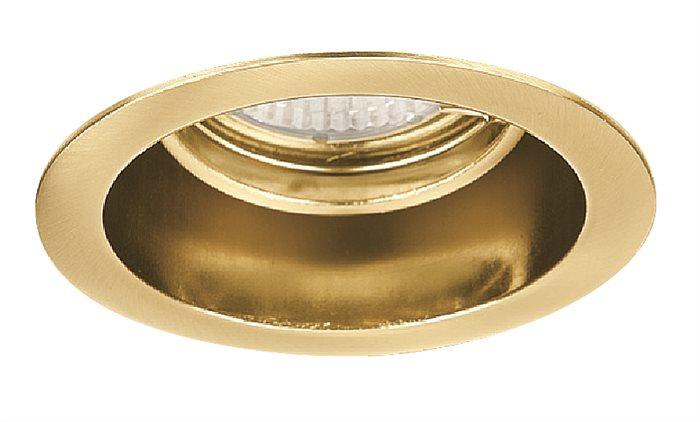 Lampenlux Einbaustrahler Spot Akimo rund gold 30° schwenkbar Ø9.0cm 230V rostfrei Einbauleuchte Einbaulampe Einbauspot Spot Strahler Punktstrahler Aluminium Downlight Down Deckeneinbaustrahler Deckeneinbauleuchte