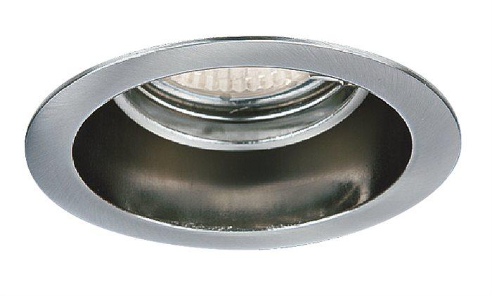 Lampenlux Einbaustrahler Spot Akimo rund chrom 30° schwenkbar Ø9.0cm 12V rostfrei Einbauleuchte Einbaulampe Einbauspot Spot Strahler Punktstrahler Aluminium Downlight Down Deckeneinbaustrahler Deckeneinbauleuchte