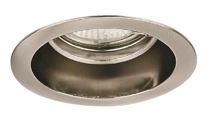 Lampenlux Einbaustrahler Spot Akimo rund Nickel sat 30° schwenkb. Ø9.0cm 230V rostfreiEinbauleuchte Einbaulampe Einbauspot Spot Strahler Punktstrahler Aluminium Downlight Down Deckeneinbaustrahler Deckeneinbauleuchte