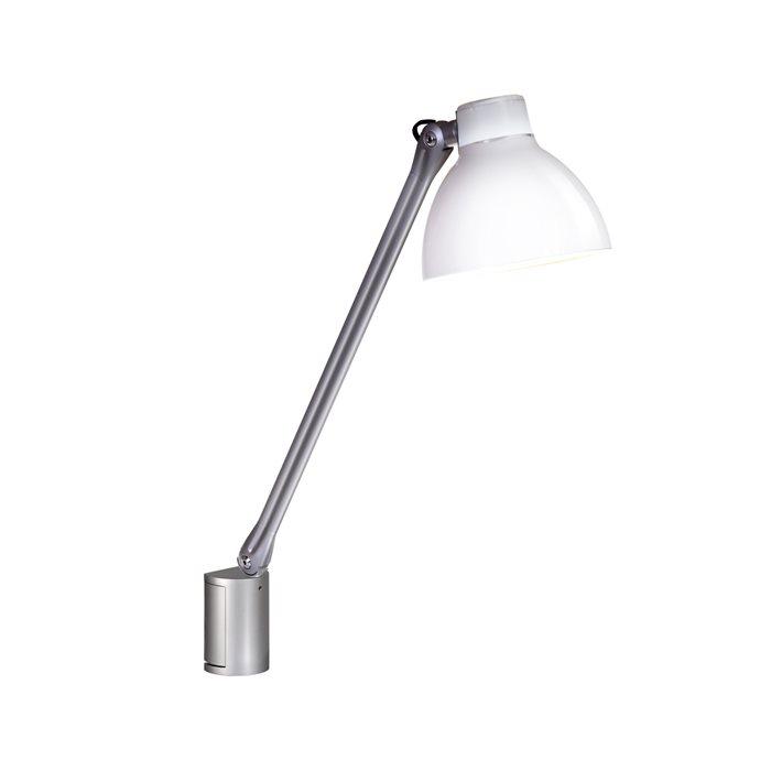 Lampenlux LED Bettlampe Pluto Bettleuchte Wandlampe Wandleuchte Leseleuchte Leselicht Weiß Schalter schwenkbar Schreibtischlampe beweglich