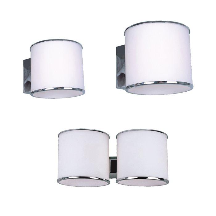 Lampenlux LED Wandlampe Remus Spiegelleuchte Weiß Bilderlampe Badleuchte Rund