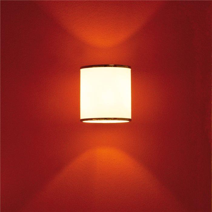 Lampenlux LED Wandlampe Wandleuchte Remus Rund Up Down Light Effektlampe weiss G9 3W groß