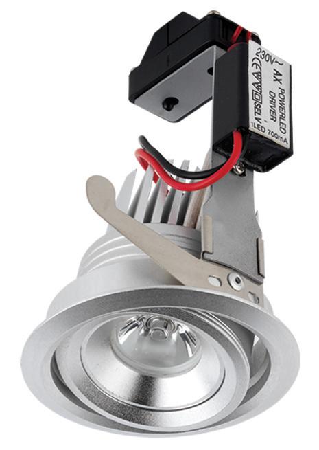 Lampenlux LED-Einbaustrahler Spot Rocko rund schwenkbar Ø9.0 warmweiß/kaltweiß inkl Trafo