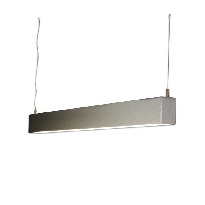 Lampenlux Pendellampe Pendelleuchte Alegro Arbeitslicht Silber Fassung T5 28W 120cm