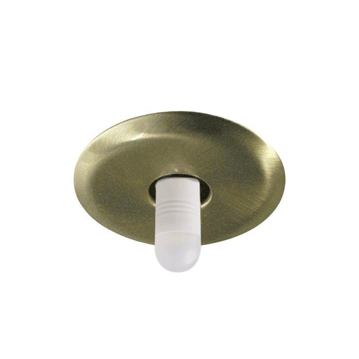 Lampenlux LED-Einbaustrahler Spot Rizz rund gold/Nickel 4x4cm 12V G4 Kabel mit AMP Stecker