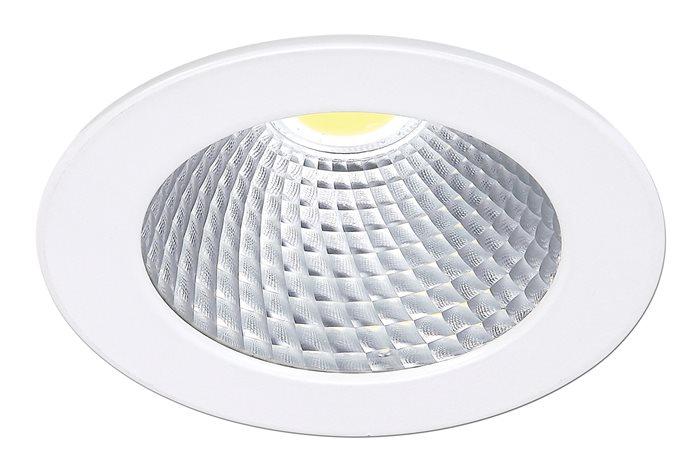 Lampenlux LED Einbaustrahler Reni Aussenleuchte Rund weiß Schwenkbar Warmweiß Aluminium