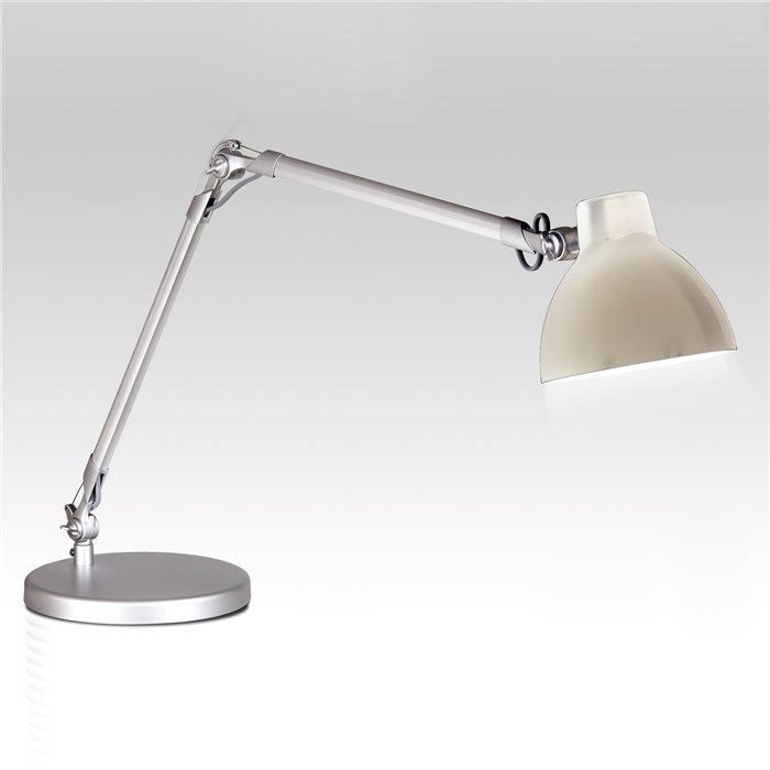 Lampenlux LED Tischlampe Tischleuchte Pana schwenkbar mit Schalter weiss E27 4W