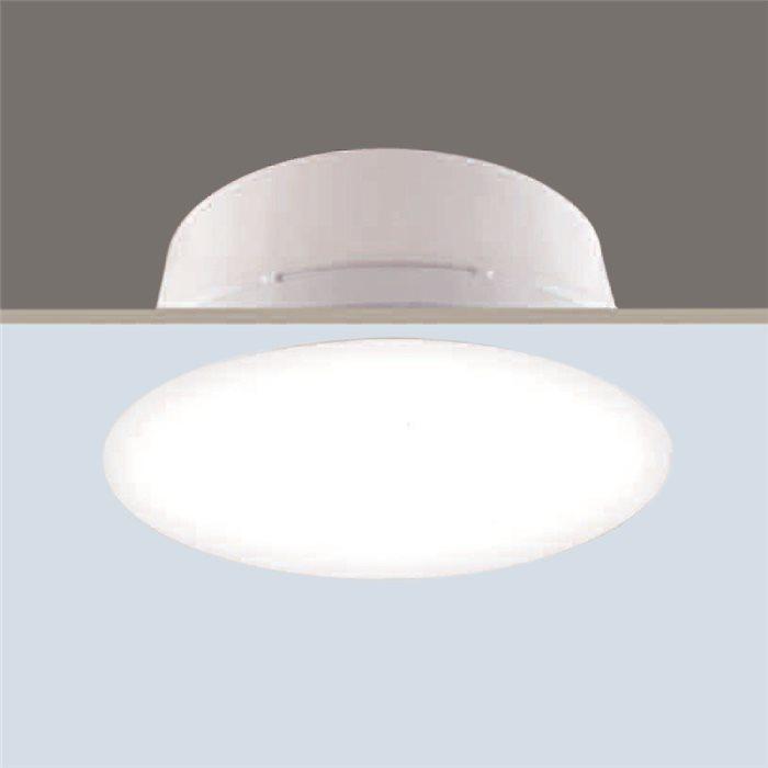 Lampenlux Einbaustrahler Spot Ricca weiß Aluminiumguss Ø30.4cm rostfrei Energiespar