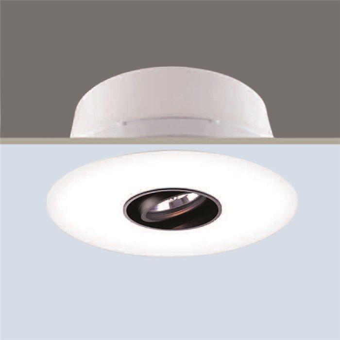 Lampenlux Einbaustrahler Spot Ricky weiß Aluminiumguss Ø30cm rostfrei Energiespar und LED