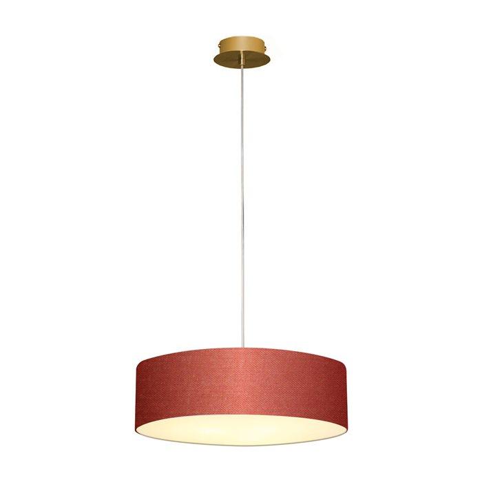 Lampenlux LED Pendelleuchte Bango Hängeleuchte Stoff Bauhaus Stil Hängelampe viele Farben