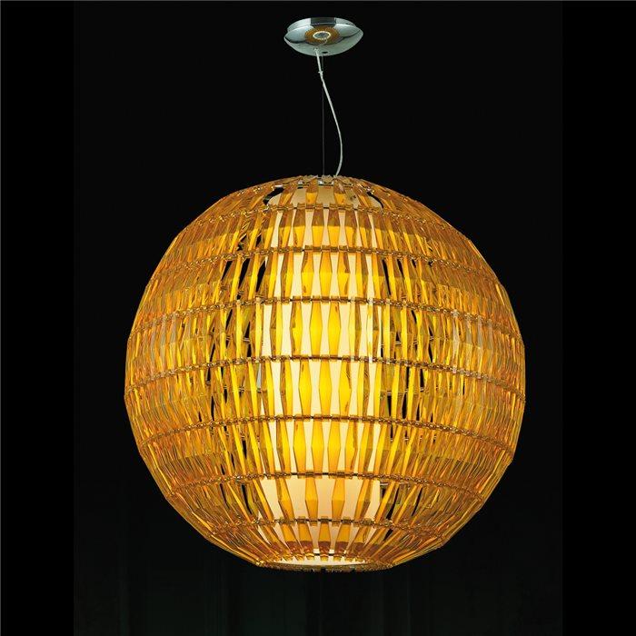Lampenlux LED Design Pendelleuchte Kleo Hängeleuchte Gelb Weiß Kugel Höhenverstellbar