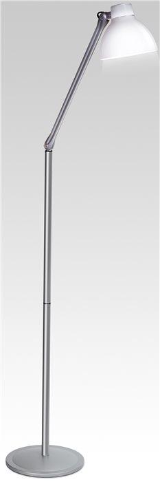 Lampenlux LED Stehleuchte Stehlampe Zarko Modern mit Schalter weiß schwenkbar Höhe 129cm