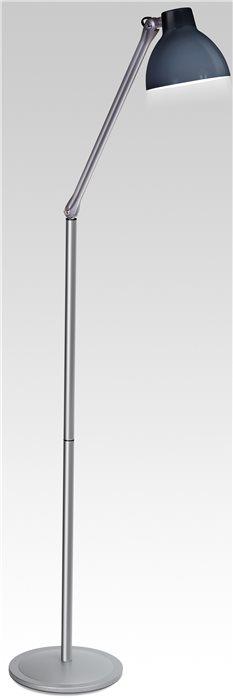 Lampenlux LED Stehleuchte Stehlampe Zarko Modern mit Schalter schwarz schwenkbar 230V