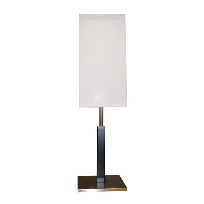 Lampenlux Tischlampe Pally Nachttischlampe Bettleuchte Deko Nickel Weiß Beige