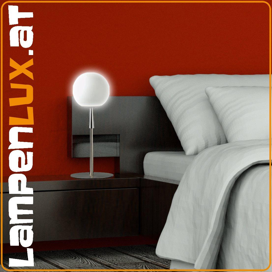 Lampenlux led tischleuchte tischlampe anita mit glasschirm - Deko wallpaper ...