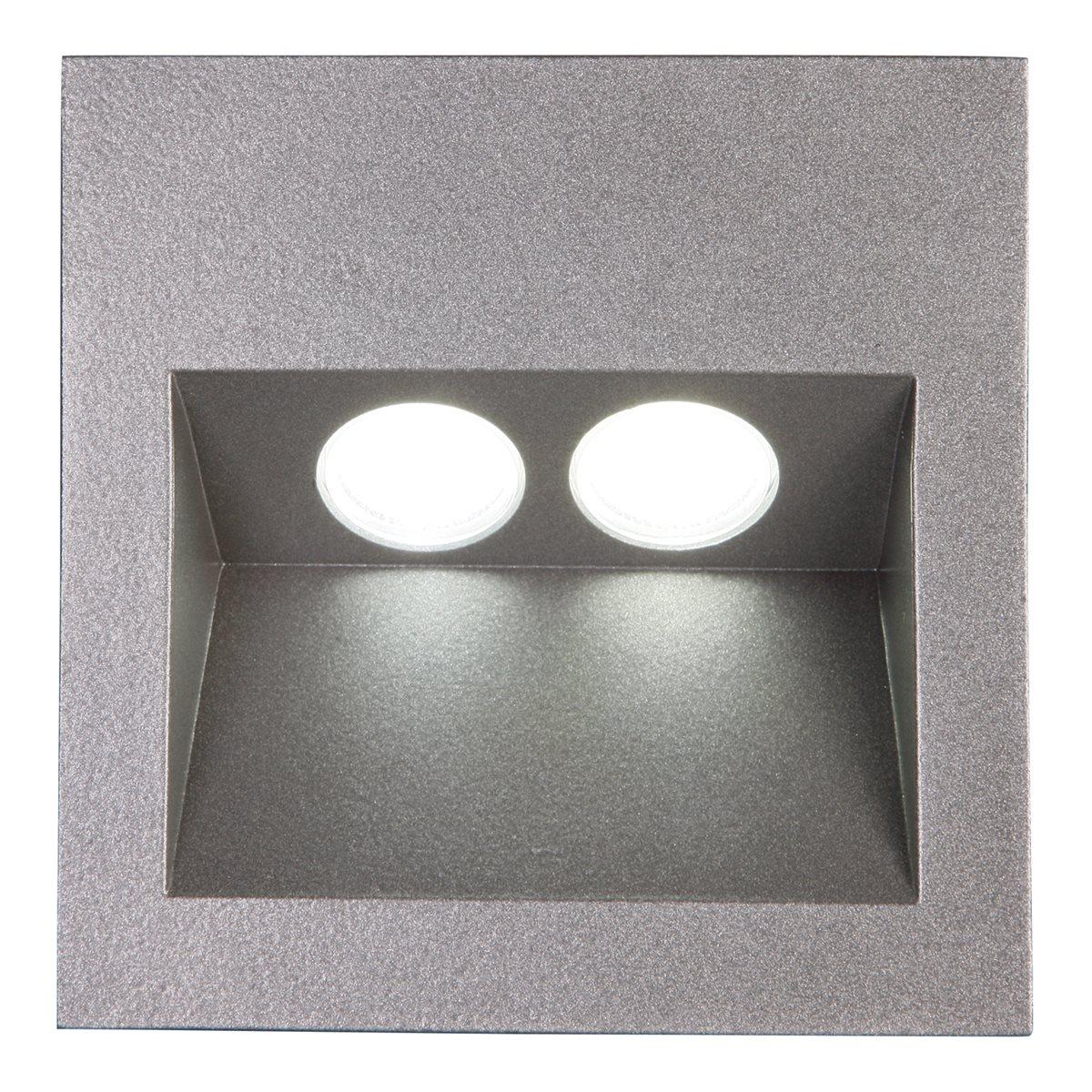 lampenlux led einbaustrahler aussenleuchte taimy ip65 230v spot eckig aluminium down 2345 15. Black Bedroom Furniture Sets. Home Design Ideas