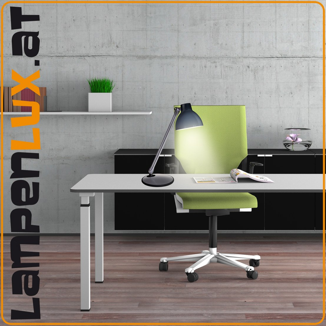 lampenlux led tischlampe pany schreibtischlampe b rolampe schwenkbar drehbahr schalter pany. Black Bedroom Furniture Sets. Home Design Ideas