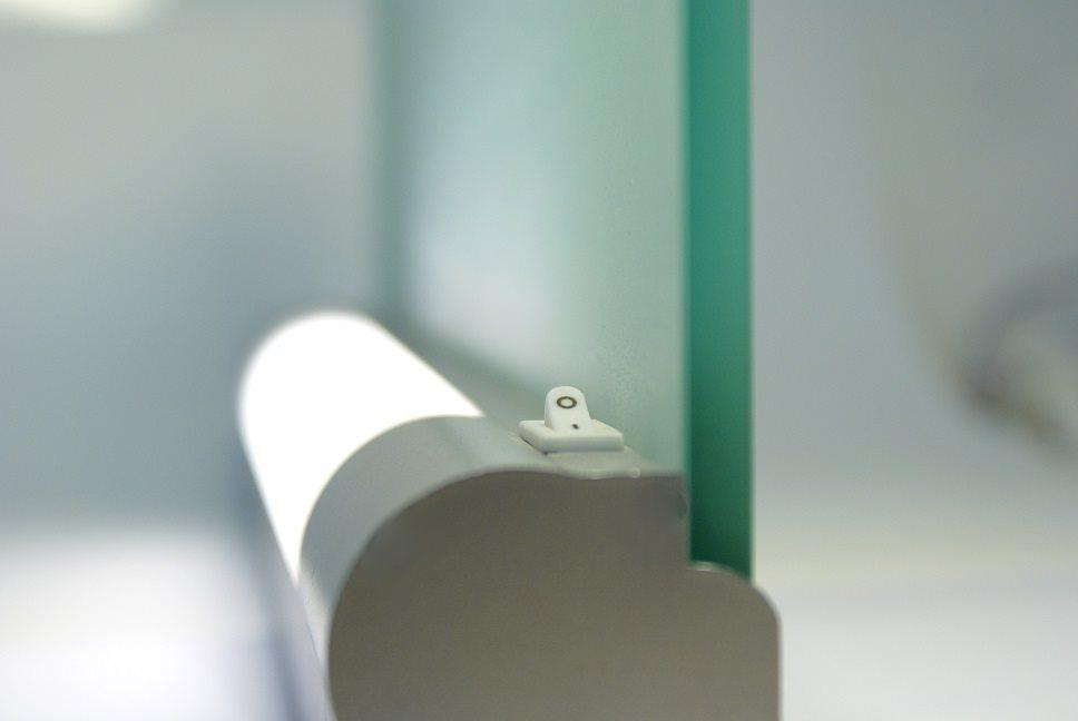 lampenlux wandlampe puna unterbauleuchte glas schalter silber badleuchte bilderlampe t5. Black Bedroom Furniture Sets. Home Design Ideas