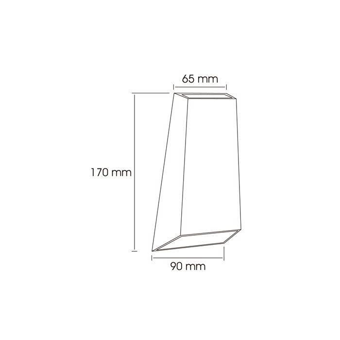 lampenlux led au enleuchte kai wandlampe wandleuchte up down alu grau ip54 t r 2346 15. Black Bedroom Furniture Sets. Home Design Ideas