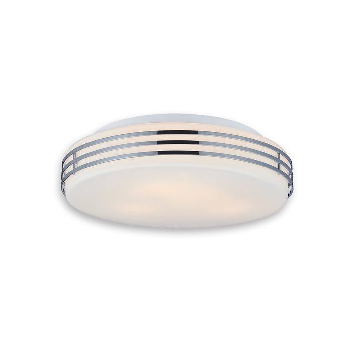 Lampenlux deckenlampe deckenleuchte dali glasschirm chrom for Deckenlampe e27