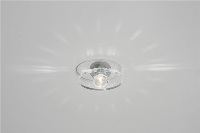 lampenlux led einbaustrahler spot rachel rund glas tranparent 12v mr16 rostfrei rachel. Black Bedroom Furniture Sets. Home Design Ideas