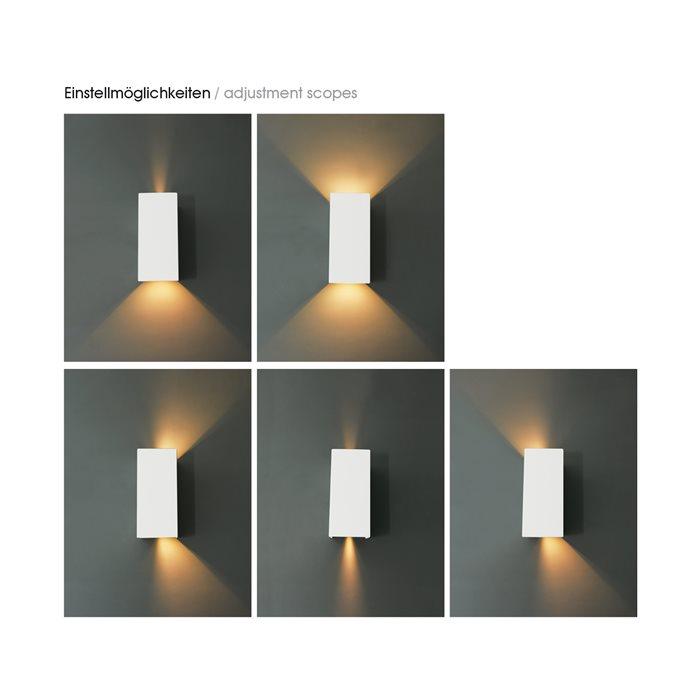 lampenlux led aussenleuchte ingo wandlampe wandleuchte up down wei schwarz lichtkegel. Black Bedroom Furniture Sets. Home Design Ideas