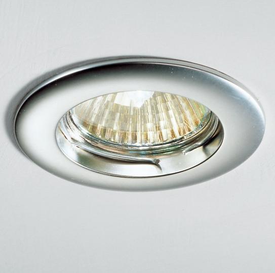 Lampenlux Einbaustrahler Spot SARTO Glas MR16/GU10  Ø8cm Aluminium