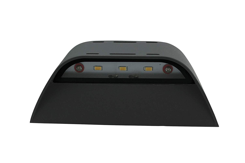 Lampenlux LED Außenleuchte Immi Außenlampe Wandlampe Wandleuchte Up Down Light IP54 Schwarz Tür Aluminium