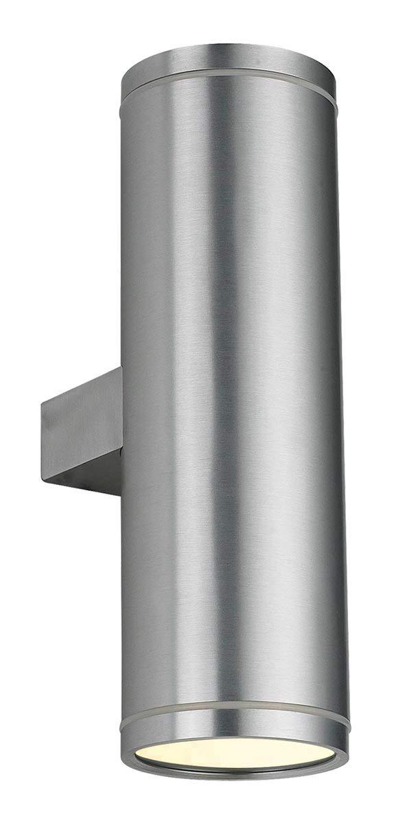 Lampenlux Wandlampe Karim Rund IP54 Außenleuchte Aluminium GU10 Höhe 25.5cm