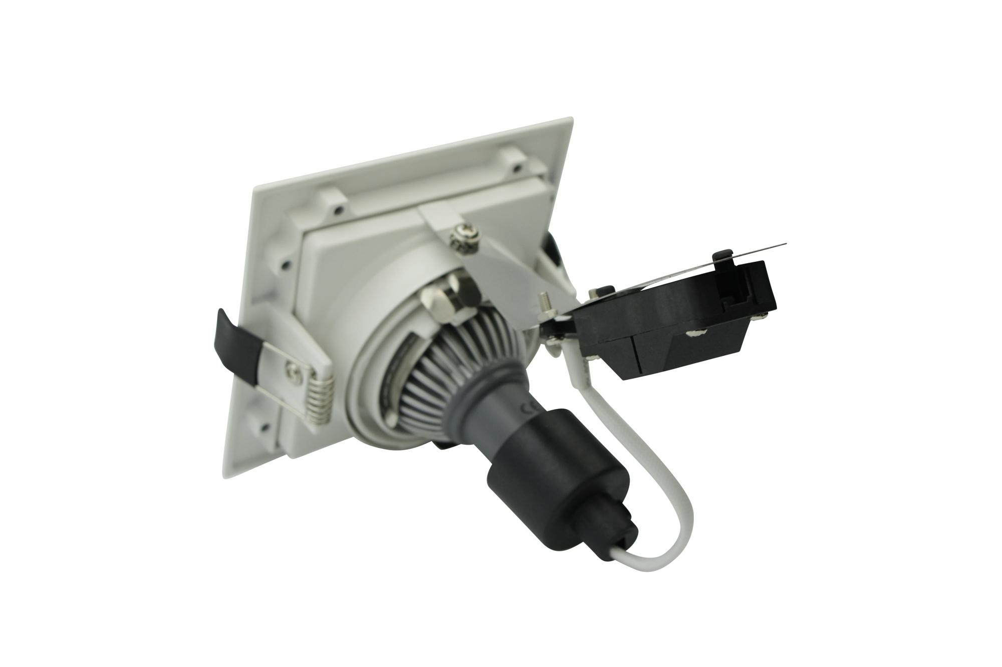 Lampenlux LED-Einbaustrahler Spot Scout eckig weiß dreh- und schwenkbar Einbauspot
