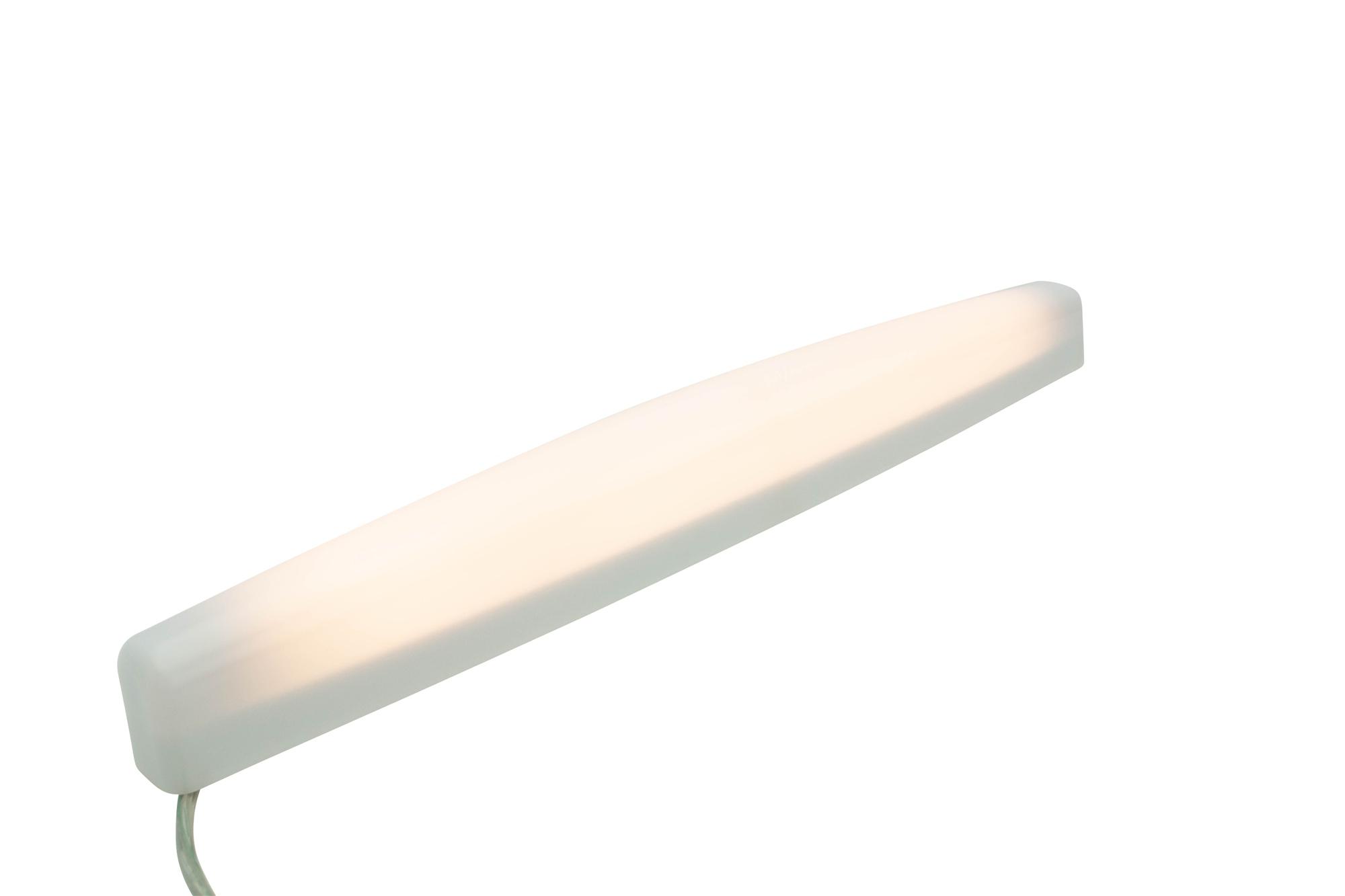 Lampenlux Wandlampe Akuma T5 Badlampe 13W Opal weiß Spiegellleuchte 55cm