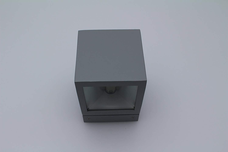 Lampenlux Aussenleuchte Karo Wandlampe Wandleuchte Up Down Eckig Silber Aluminium