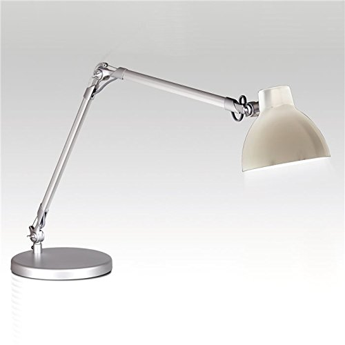 Lampenlux Tischlampe Tischleuchte Pana schwenkbar mit Schalter weiss E27