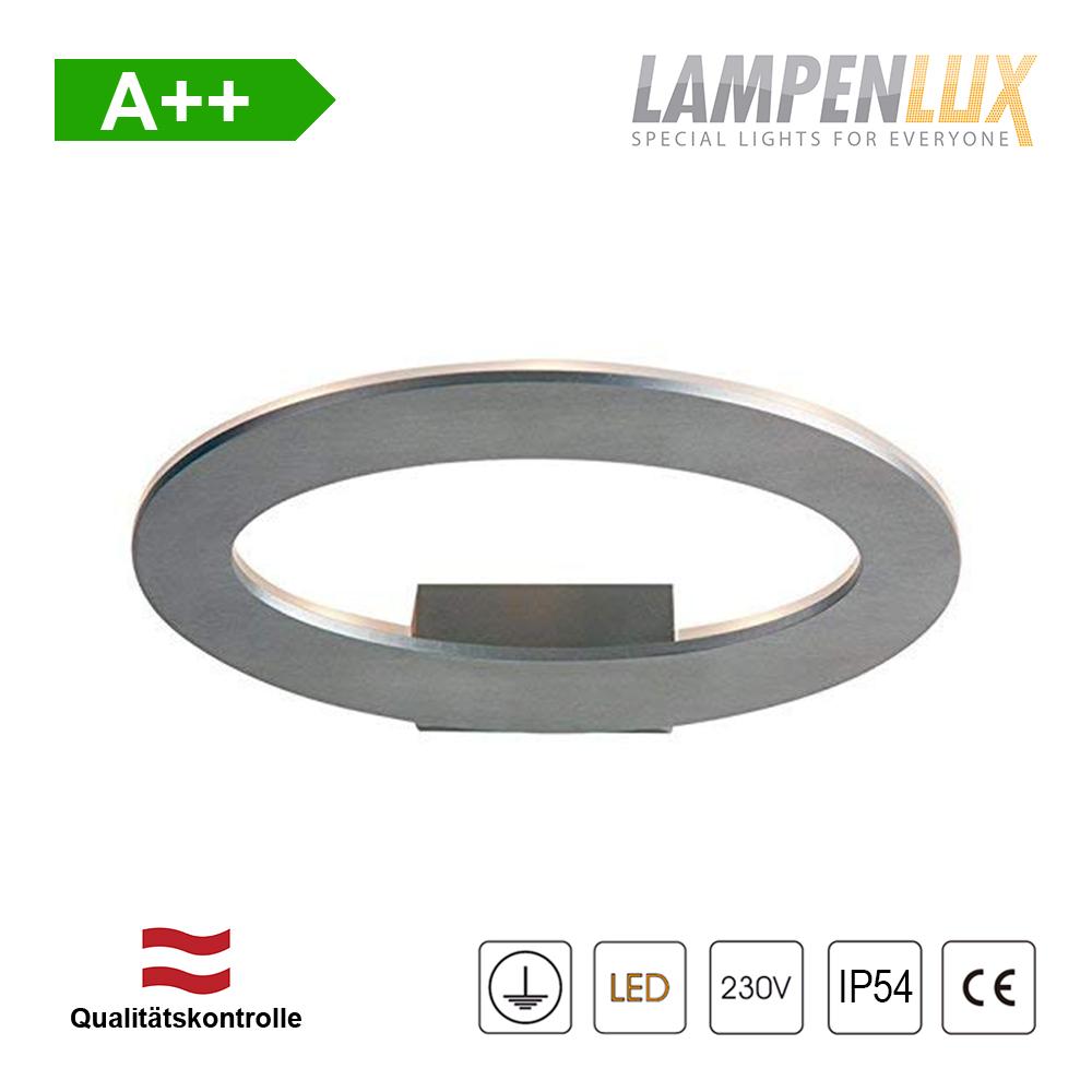 Lampenlux LED Wandlampe Gabor Grau 7W IP54 Aluminium