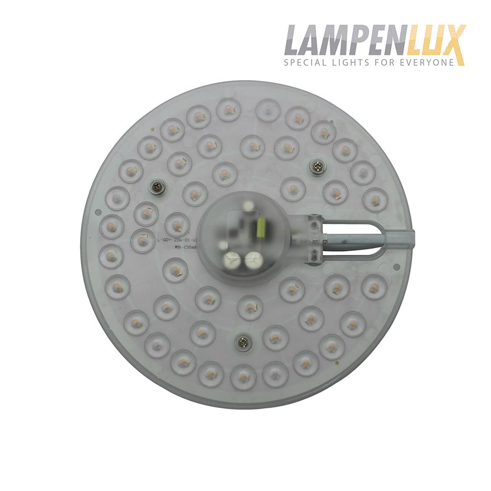 Lampenlux LED Platine Plato rundes Umrüstmodul mit Magnethalterung warmweiß