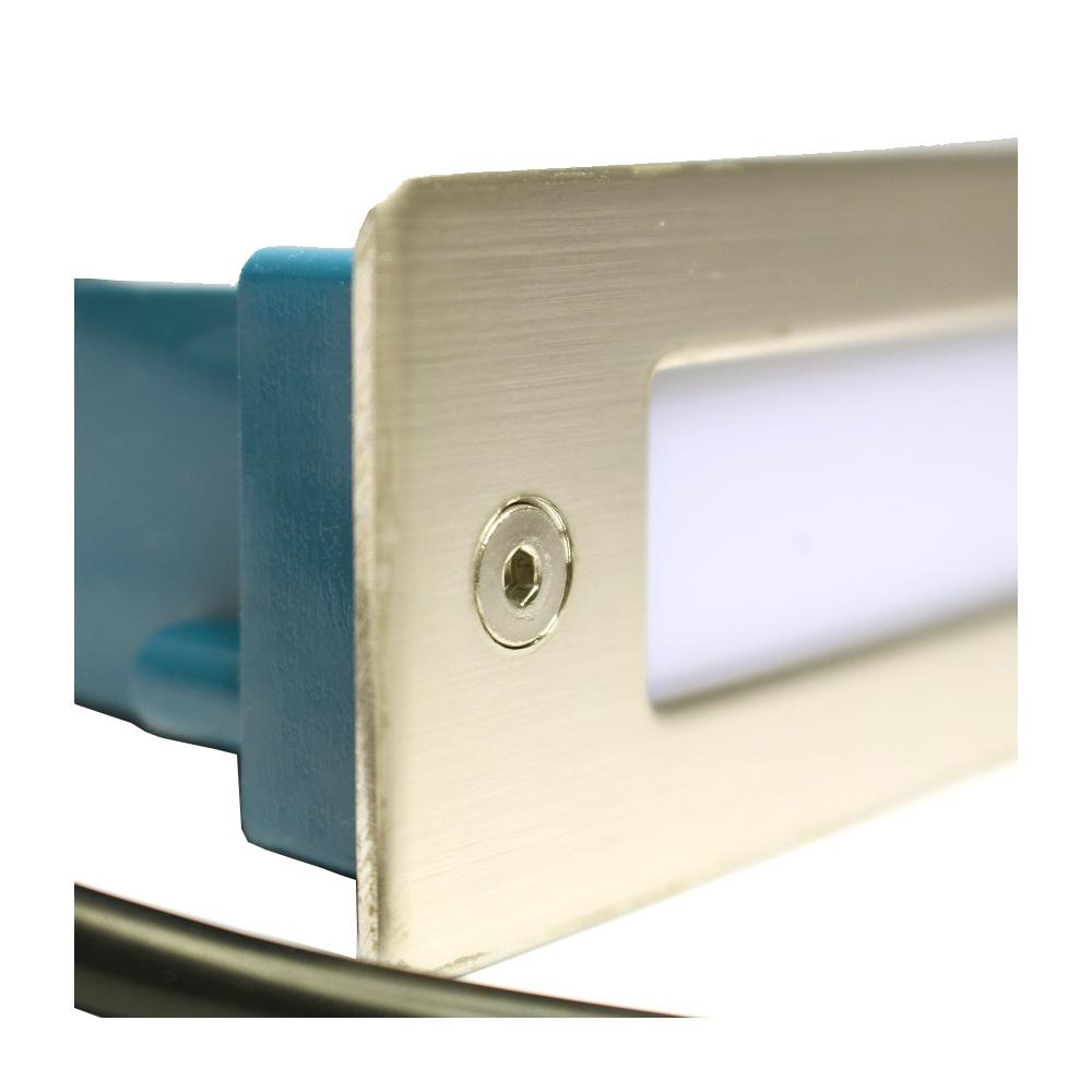 Lampenlux LED Einbaustrahler Shade IP54 Außenbereich und Innenbereich Tagweiß Aluminium 11x4cm Parkplatz Terrasse