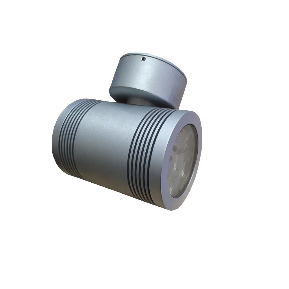 Lampenlux LED Aussenleuchte Igor Wandlampe Wandleuchte Up Down Rund Chrom Aluminium IP54 für Innenbereich und Außenbereich
