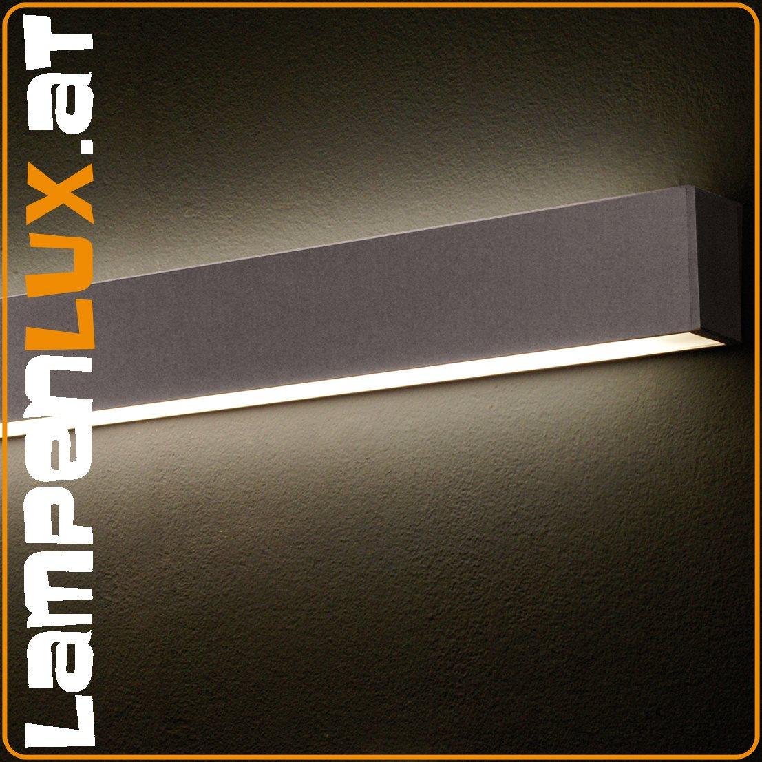 Lampenlux Wandleuchte Wandlampe Chira silber T5 28W Länge: 120 cm